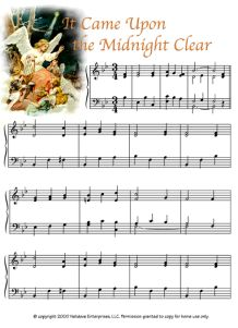It Came Upon the Midnight Clear Christmas Piano Sheet Music, Easy Piano Sheet Music, Christmas Music, Piano Music, Christmas Crafts, Bible Songs, Kids Piano, Free Piano, Elementary Music