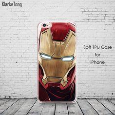 Cool Marvel Transparent TPU Case Cover For iPhone 6 6s 5 5s se 7 7Plus Batman Joker Superman Comics Pattern Coque
