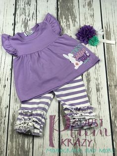 6889c33b66e37 Baby girl Easter outfit,toddler girl easter outfit,ruffled leggings,purple,easter  bunny shirt,easter shirt,monogrammed easter shirt