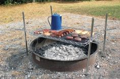 DIY fire cooking grate for camping trips
