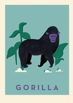 Gorilla Print A2