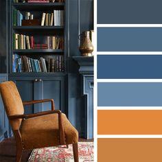 Blue Grey and Peru Color Scheme #color #colrpalette #bluegrey