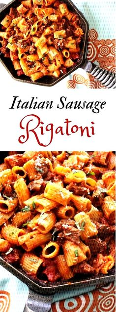 Looking for an easy hearty delicious dinner recipe the whole family will love Try my Rigatoni with Italian Sausage Simple is sometimes best Pasta Dinner Recipes, Easy Pasta Recipes, Pasta Salad Recipes, Delicious Dinner Recipes, Weeknight Recipes, Sausage Rigatoni, Italian Sausage Pasta, Italian Sausages, Sausage Recipes