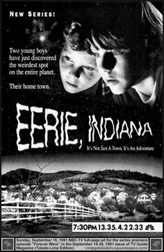 Eerie, Indiana Marshall Teller goes through weird adventures in his new small-town home with his two friends. Stars: Omri Katz and Justin Shenkarow, Creepy Kids, Nbc Tv, Tv Watch, Series Premiere, Old Shows, Tv Times, New Series, Time Travel, Horror Movies