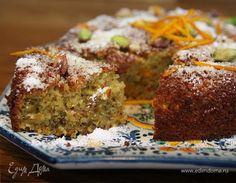 Апельсиново-фисташковый пирог на манке . Ингредиенты: манная крупа, пшеничная мука, сливочное масло