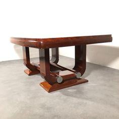 Gaston Poisson - art deco dining table (1) - Catawiki Art Deco Furniture, Gaston, Restoration, Dining Table, Design, Dinner Table, Dining Room Table, Diner Table