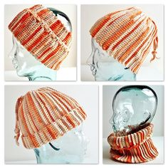 This 3 way Hat by Crochet Me has a very interesting construction. Wear it as a cowl, a hat, or a headband.
