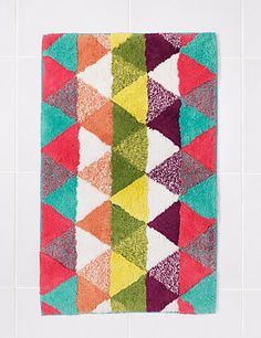 Buy the Diamond Print Bath & Pedestal Mats from Marks and Spencer's range. Bath, Quilts, Blanket, Diamond, Cotton, Shoe, Bathing, Zapatos, Quilt