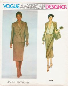 1970s Vogue American Designer Pattern 2219 John by CloesCloset, $13.00