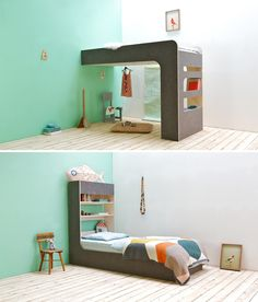 Thomas Durnerによる組み立て自由ベッド。 二段ベッドがぐんと楽しくなるね。
