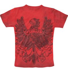 Eagle T-Shirt...T shirts available for men,women & kids...visit my store www.freecultr.com/store/gr8tees4all #eagle #cool #red #strong #courage