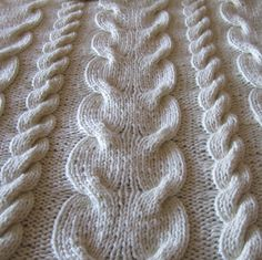 PDF KNITTING PATTERN - Super Chunky Cable throw. 4.95, via Etsy.