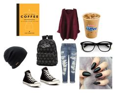 """""""Coffee Shop Soundtrack - All Time Low"""" by music-ate-my-soul ❤ liked on Polyvore featuring Current/Elliott, Converse, Vans, Coal and Dot & Bo"""