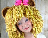 Lion Wig Halloween Costume Lion Hats Costumes for Kids- Light Brown and Beige
