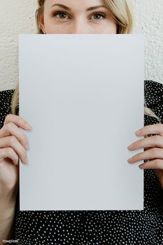 Blond woman showing a blank white poster mockup | premium image by rawpixel.com / McKinsey Business Poster, Business Card Mock Up, Blank Poster, Poster On, Blank White Background, Stick Figure Animation, Write On Pictures, Image Paper, Christian Posters