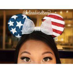 USA Custom Minnie Mouse Ears