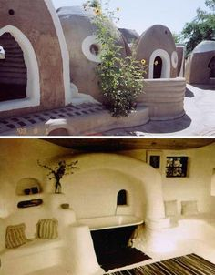 Earth bag homes.