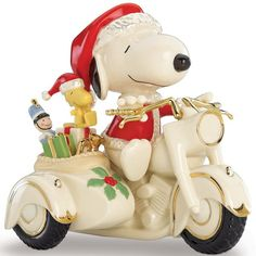 PEANUTS® SNOOPY on a Motorcycle Figurine by Lenox