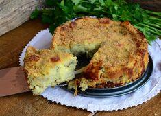 Torta carciofi e patate con scamorza