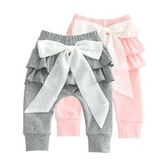 Baby Bow Pants Baby Outfits, Kids Outfits, Baby Girl Pants, Little Girl Dresses, Handmade Baby Clothes, Baby Couture, Kids Pants, Baby Bows, Baby Sewing