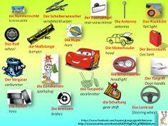 Die Autoteile. ACHTUNG: Es heißt der Scheibenwischer, nicht der Scheiberwischer!