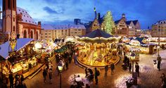 Nurnberg, Germany: When the smell of chestnuts roasting, gingerbread baking and wine mulling waft through the air, you know it's Christmas time in Nurnberg. Their traditional Christmas market has been prevalent from 1628, more than 30 of its stalls dating back to the 1890s.