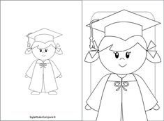 Visit the post for more. Graduation Cartoon, Preschool Graduation, Graduation Ideas, Graduation Cap And Gown, Cartoon Pics, Coloring Sheets, Pre School, Kindergarten, Classroom