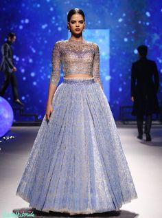 7 Tarun Tahiliani 2016 Bridal lehanga encrusted with crystals (8)
