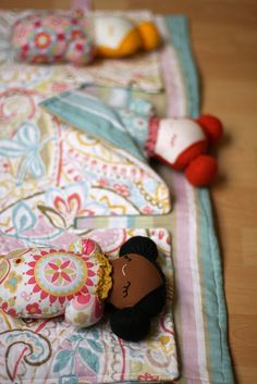 Sleepover Pals- Paisley by sixorangesocks, via Flickr