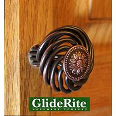 GlideRite Oil Rubbed Bronze Flower Design Birdcage Cabinet Knobs (Pack of 25)