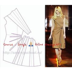 45 Ideas vintage kleding maken for 2019 Dress Sewing Patterns, Clothing Patterns, Pattern Draping, Dress Tutorials, Pattern Cutting, Schneider, Draped Dress, Fashion Sewing, Sewing Techniques