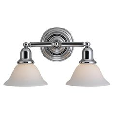Sea Gull 44061-05 - Sussex Two Light Wall / Bath in Chrome