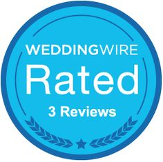 We just earned the WeddingWire Rated Blue badge for receiving 3+ reviews! http://wed.li/wwrated