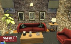 Sims 4 CC's - The Best: Living Room by Onyx Sims