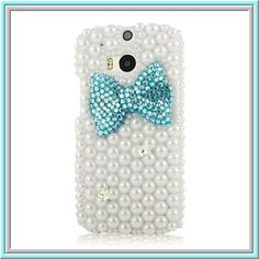 Worth *13* Cool Points!  HTC One (M8) - Gleaming Pearls With Bling Bow in Assorted Colors  Item 1461  - Specialty: Classic pearls set off a vibrantly colored bling bow.   Features:  - Made for HTC ONE M8 -Ideal protection from