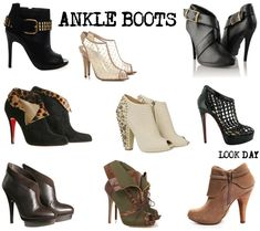 Moda - Ankle boots - http://espacomulher.net/moda-ankle-boots/