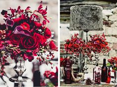 Red & Plum Winter Wedding Style Shoot | WeddingWire: The Blog