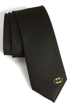 DC Comics Batman Solid Tie available at #Nordstrom.  Oh every boy needs him a Batman tie........just sayin.