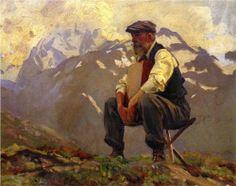 Reconnoitering - John Singer Sargent, c.1911
