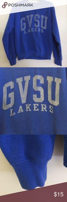 GVSU Lakers Crewneck Sweatshirt Mid-condition Grand Valley State University Lakers crewneck sweatshirt gear for sports Tops Sweatshirts & Hoodies