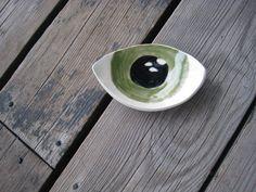 Ceramic Eye Dish  Surrealist Decor  Ceramics and by WhiteCitrus