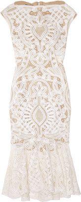 adorable for reception dress!  Alexander McQueen Crochet-embroidered silk-organza dress