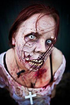 Zombie makeup,