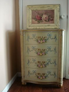 ,I love the handpainted chest with the C. Repassay painting used to disguise a door opening in a guesthouse