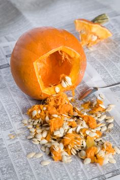 Tip to preserve your pumpkin:  After you scoop out and carve your pumpkin, dip it in a large container of bleach and water (use a 1 tsp:1 gal mix) to kill bacteria, help your pumpkin stay fresh longer and keep bugs away.  Once completely dry, (drain upside down), add 2 tablespoon of vinegar and 1 teaspoon of lemon juice to a quart of water.  Brush this solution onto your pumpkin to keep it looking fresh for weeks!