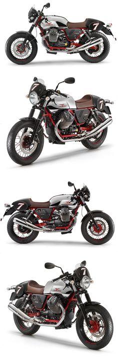 Moto Guzzi V7 RACER #CafèRacer #silver #chrome
