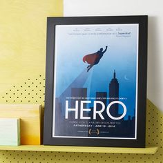Personalised 'Superdad' Movie Poster Print