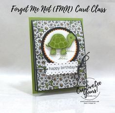 Birthday Cards, Happy Birthday, Send A Card, Paper Crafts, Diy Crafts, Color Club, Online Tutorials, Fun Fold Cards, Forget Me Not