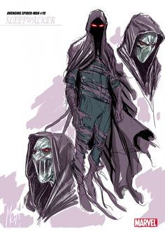 """Artist Marco Checchetto was tasked to redesign the cult favorite dark hero Sleepwalker (originally done masterfully by Bob Budiansky), and he made Sleepy lithe, threatening — and frankly, demonic. I especially love the foreboding shadow concealing his face, and the sinewy maw he reveals when he opens up his mouth. – Chris A."""