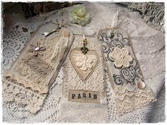 Beautiful tags of lace - great web site